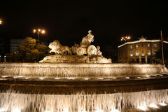 Cibeles Fountain. Madrid Royalty Free Stock Images