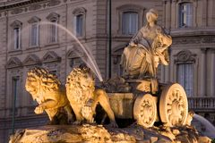 Cibeles Fountain in Madrid, Spain Stock Images
