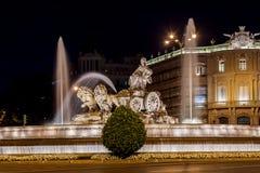 Cibeles fountain at Madrid Spain Royalty Free Stock Photos