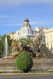 Cibeles fountain in Madrid, Spain Royalty Free Stock Image