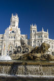 Cibeles Fountain in Madrid, Spain Stock Photo