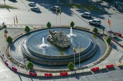 Cibeles Fountain in Madrid, Spain Royalty Free Stock Image