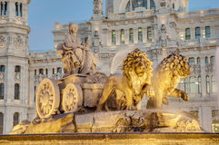 Cibeles Fountain at Madrid, Spain Royalty Free Stock Photography