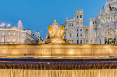 Cibeles Fountain at Madrid, Spain Stock Images