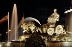 Cibeles Fountain in Madrid, Spain Stock Photography
