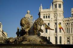 Cibeles Fountain. Royalty Free Stock Photo