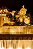 Cibeles Fountain at Night Stock Image