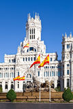 Cibeles Fountain and Palacio de Comunicaciones Royalty Free Stock Image