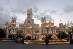 Cibeles kvadrerar, Madrid, Spanien Fotografering för Bildbyråer