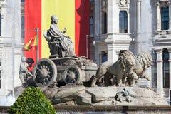 Cibeles kvadrerar, Madrid, Spanien Arkivbild