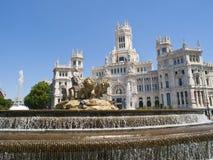 cibeles Madrid kwadrat Obraz Royalty Free