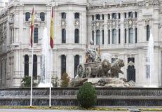 Cibeles, Madryt, Hiszpania fotografia stock