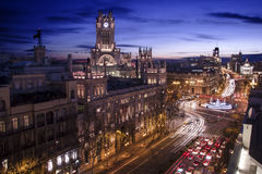 Cibeles NightTime Stock Images