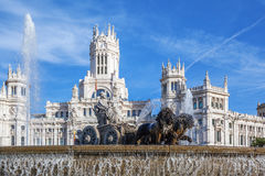 Cibeles Palace and fountain Royalty Free Stock Photo