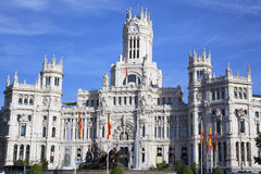 Cibeles Palace at the Plaza de Cibeles Stock Photography