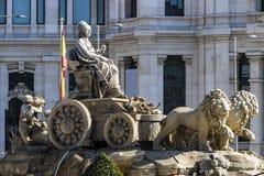 cibeles plaza de Μαδρίτη Στοκ Φωτογραφίες
