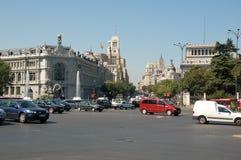 Cibeles Quadrat - Madrid Stockbild