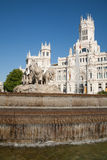 Cibeles sculpture fountain in Madrid Stock Images