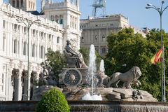 Cibeles sculpture in Madrid city Royalty Free Stock Photography