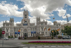 Cibeles sculpture in madrid Royalty Free Stock Images