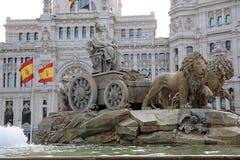 Cibeles springbrunn. Madrid Arkivfoto