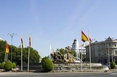 Cibeles springbrunn. Madrid. Spanien. Arkivbild