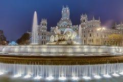 Cibeles springbrunn på Madrid, Spanien Royaltyfria Bilder