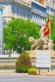 Cibeles springbrunnFuente de La Diosa Cibeles, Fontano Cibelo Royaltyfri Bild