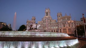 Cibeles Square in the Madrid Spain stock video footage