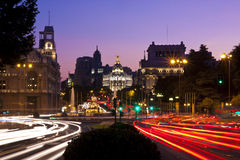 Cibeles square, Madrid, Spain. Royalty Free Stock Photo