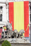 Cibeles square, Madrid, Spain Royalty Free Stock Photos