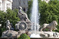 Cibeles square, Madrid, Spain Stock Images