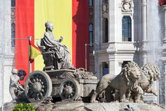 Cibeles square, Madrid, Spain Stock Image