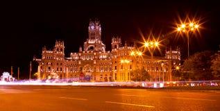 Cibeles Square at Night, Madrid Stock Photos