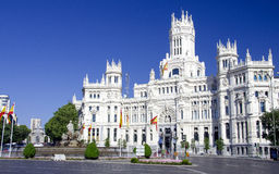 Cibeles ställe i Madrid, Spanien Arkivbild