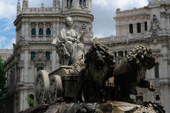 Cibeles statue in Madrid. With the city hall in the background Stock Photography