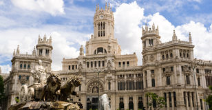 Cibeles statue in Madrid. Cibeles statue and Madrid City Hall Royalty Free Stock Photography