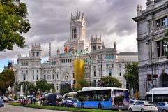 Cibelespaleis in Madrid, Spanje stock foto