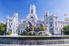 cibelesspringbrunn madrid spain royaltyfria bilder