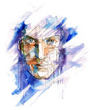 Ciber face Stock Image