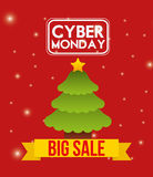 Ciber monday deals design Royalty Free Stock Images