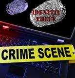 Cibercrimine di furto di identità Fotografia Stock Libera da Diritti