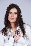 Cibernetic woman Stock Photo