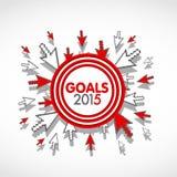 Cible 2015 Photographie stock libre de droits