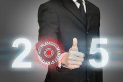 Cible 2015 accomplissante d'affaires Images libres de droits