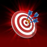 Cible avec des dards, fond de la cible 3d Photo libre de droits