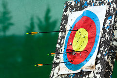 Cible avec des flèches Photo libre de droits