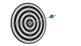 Cible avec une flèche - cible avec des arros d'un arc au milieu de la cible d'isolement Photo libre de droits