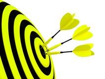 Cible. Concept de réussite. Image stock