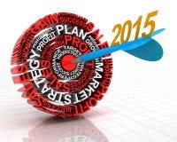 cible 2015 d'affaires Photos stock